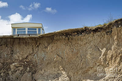 Trailer On Edge Of Cliff Poster by Jon Boyes