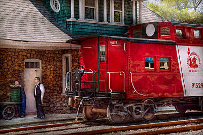 Train - Caboose - End Of The Line Poster by Mike Savad