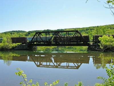 Poster featuring the photograph Train And Trestle by Sherman Perry
