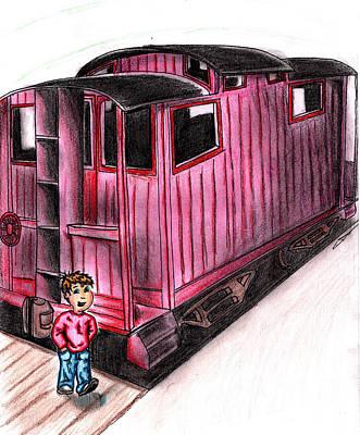 Train Child Caboose Poster