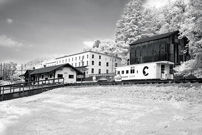 Poster featuring the photograph Train Depot by Mary Almond