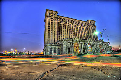 Michigan Central Train Depot Station Detroit Mi Poster by Nicholas  Grunas