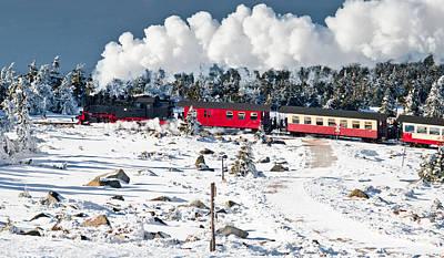 Train On The Brocken (harz) Poster by © Finn Gonschior