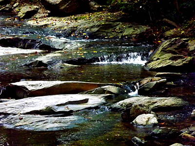 Poster featuring the photograph Tranquil River In Asheville Nc by Jodi Terracina