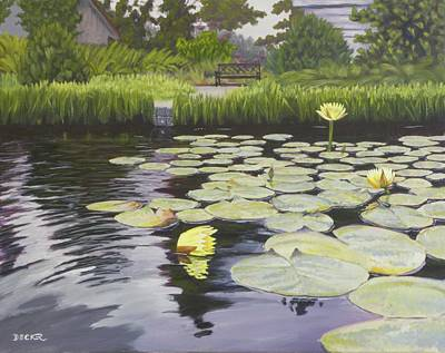 Poster featuring the painting Tranquility Furman Botanical Garden by Robert Decker