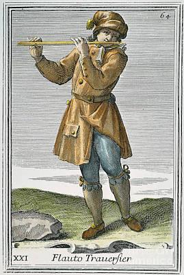 Transverse Flute, 1723 Poster