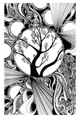 Tree Doodle 58 Poster