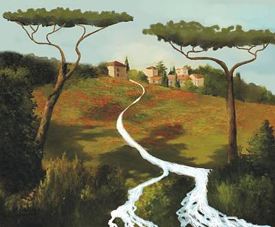 Trees Of Tuscany Poster