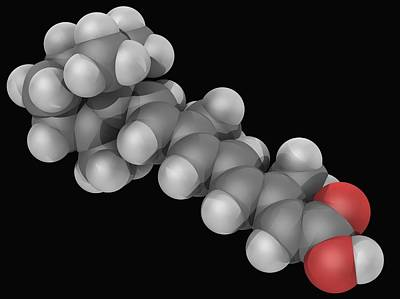 Tretinoin Drug Molecule Poster by Laguna Design