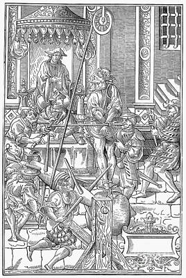 Trial Of A Heretic Poster by Granger