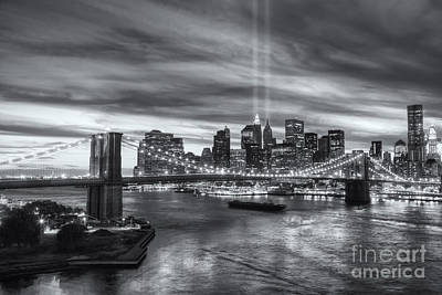 Tribute In Light V Poster by Clarence Holmes