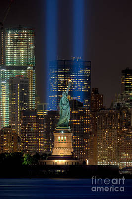 Tribute In Light Xi Poster by Clarence Holmes
