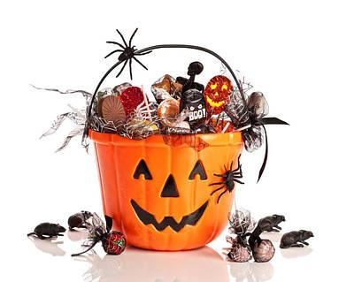 Trick Or Treat Halloween Bucket Poster