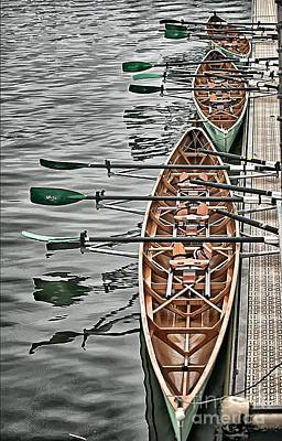 Poster featuring the photograph Triple Sculls by Jack Torcello