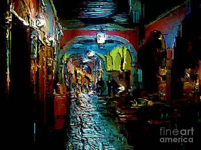 Poster featuring the digital art Trippin In San Miguel by John  Kolenberg