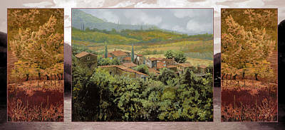 Trittico-il Prossimo Autunno Poster by Guido Borelli