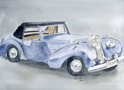 Triumph Roadster 45-49 Poster by Eva Ason