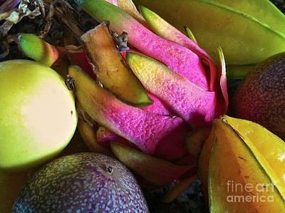 Tropical Fruit 3- Dragonfruit Arrangement Poster by J R Stern