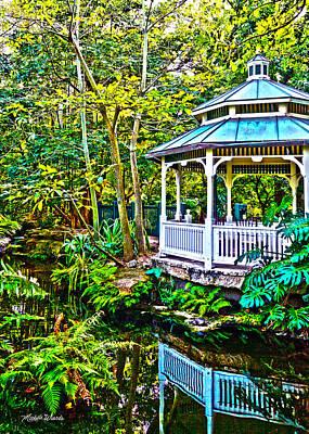 Tropical Gazebo Poster by Michelle Wiarda