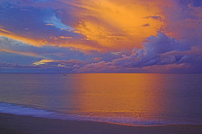 Poster featuring the photograph Tropical Sunset-2- St Lucia by Chester Williams