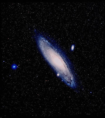 True-colour Palomar Image Of The Andromeda Galaxy Poster by Celestial Image Picture Co.
