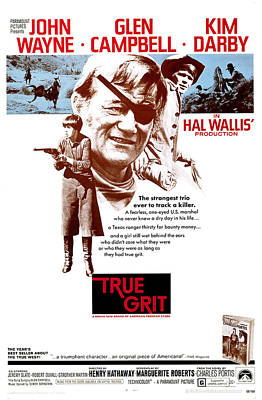True Grit, Kim Darby, John Wayne, Glen Poster by Everett