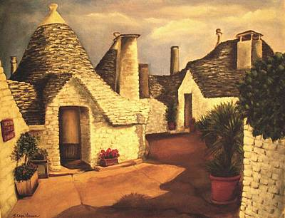 Poster featuring the painting Trulli 2 by Sarah Farren