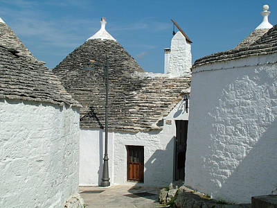 Poster featuring the photograph Trulli Houses Alberobello Italy by Joseph Hendrix
