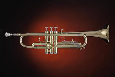 Trumpet Red Spotlight  Poster