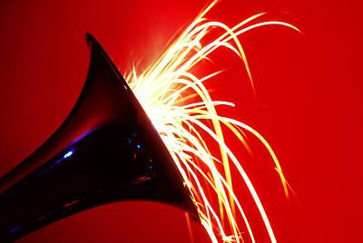Trumpet Shooting Sparks Poster