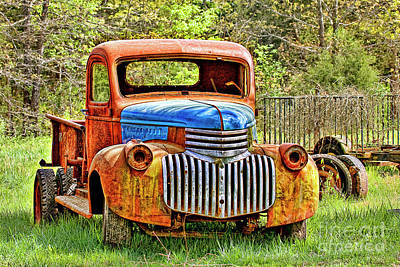 Trusty And Rusty Old Truck Poster by Carolyn Fox