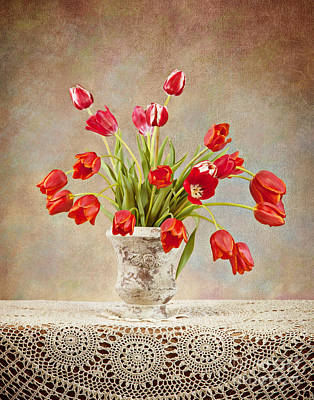 Poster featuring the photograph Tulip Bouquet by Cheryl Davis