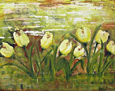 Poster featuring the painting Tulip Dance by Kathy Sheeran