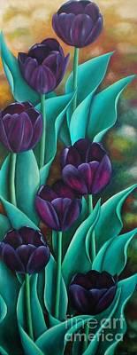 Tulips Poster by Paula Ludovino