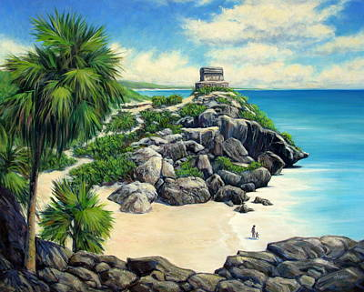 Tulum Ruins Mexico Poster by Vickie Fears
