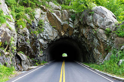 Tunnel On A Lonely Road Poster