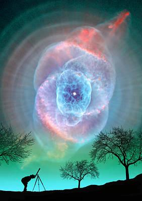 Turquoise Super Nova Poster by Larry Landolfi