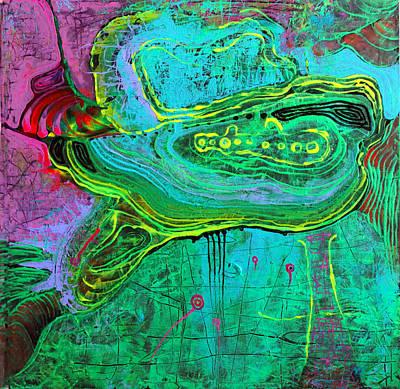 Turtle In The Emerald Ocean Poster by Lolita Bronzini