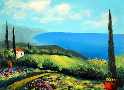 Tuscan Coastline Poster