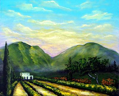 Poster featuring the painting Tuscany Light by Larry Cirigliano