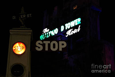 Twilight Zone Tower Of Terror Stop Sign Hollywood Studios Walt Disney World Prints Watercolor Poster by Shawn O'Brien