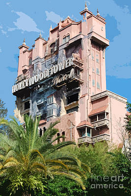Twilight Zone Tower Of Terror Vertical Hollywood Studios Walt Disney World Prints Cutout Poster
