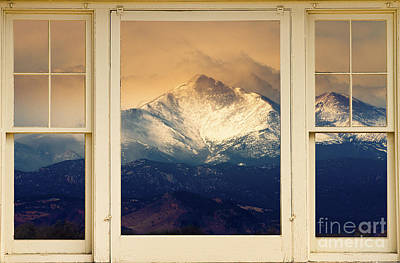 Twin Peaks Meek And Longs Peak Window View Poster by James BO  Insogna