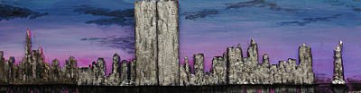 Twin Towers At Sunset Poster by Robert Handler