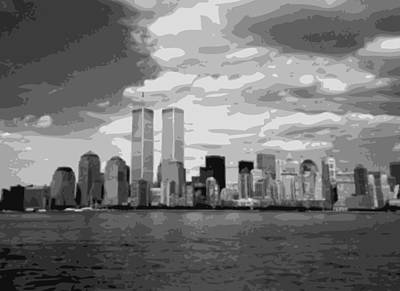 Twin Towers Bw10 Poster