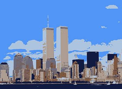 Twin Towers Color 6 Poster