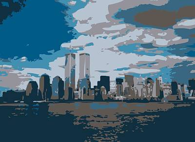 Twin Towers Color 7 Poster