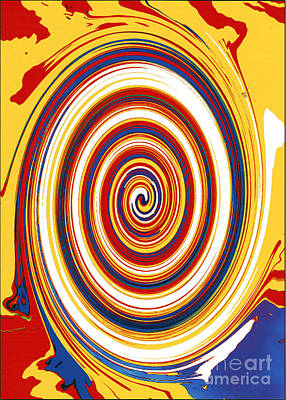 Poster featuring the digital art Twirl 1 by Bill Thomson
