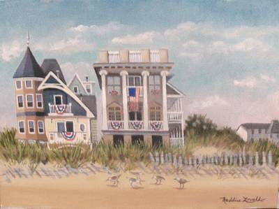 Two Different Houses On The Beach Poster