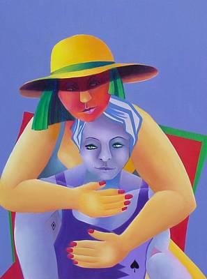 Two In A Chair Poster by Karin Eisermann